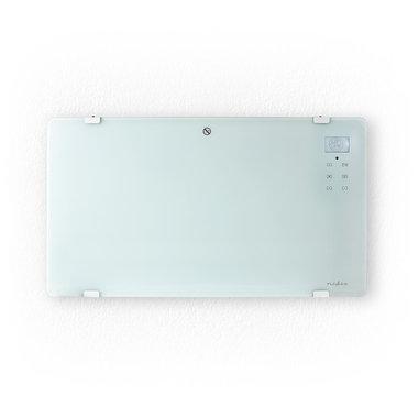 Glazen Paneel Convectorkachel   Thermostaat   LCD-Scherm   2 Warmtestanden   Staand / Wandmontage   2000 W   Wit