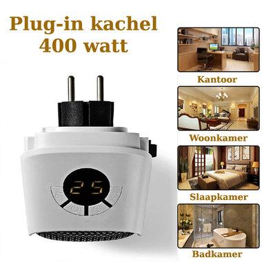 Bijzonder handige Plug-In Kachel   400 W   15 - 32 °C - Voorzien van timer en overbelastingsbescherming