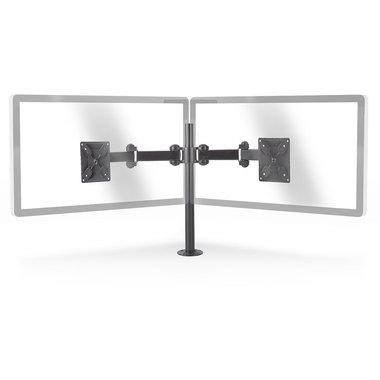 Ergonomische Monitorbeugel | Dubbele Monitor-Arm | Draai- en Kantelbaar | Zwart