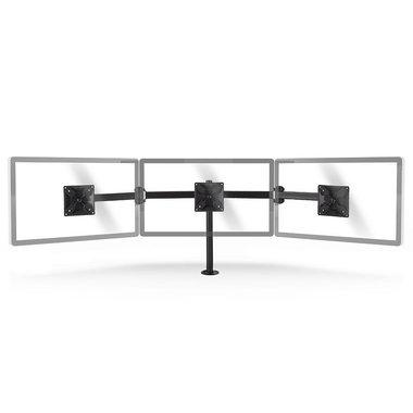 Ergonomische Monitorbeugel | Drie Monitor-Armen | Draai- en Kantelbaar | Zwart