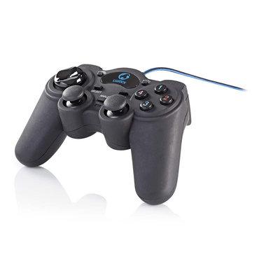 Gamepad | Haptische feedback | Gevoed over USB | Werkt met USB-apparaten