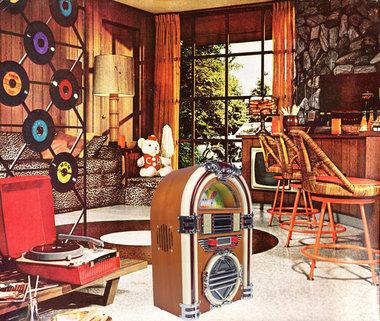 Tafelradio Jukebox FM / AM radio & CD speler