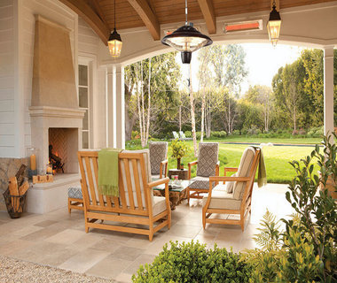 Design metalen patioverwarming | Met plafondmontage dmv solide ketting| 2000 W | IP24
