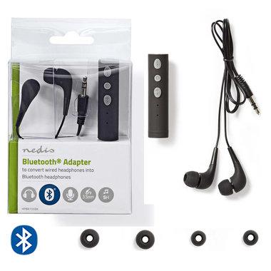 Adapter voor hoofdtelefoon | Bluetooth® | Ingebouwde microfoon | Speelduur tot 5 uur | Snoerloze hoofdtelefoon