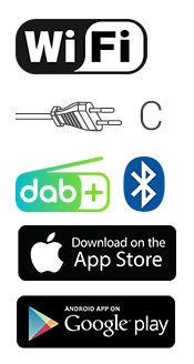 Internetradio | 42 W | DAB+ | FM | Bluetooth® | Zwart