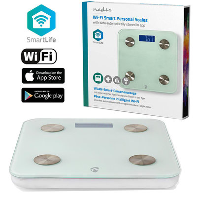 Wi-Fi smart personenweegschaal | BMI, Vet-, Water-, Bot-, Spieren-, Eiwitgehalte | Gehard Glas | 8 Personen