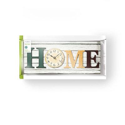 Houtstijl wandklok in lijst | Model 'HOME'