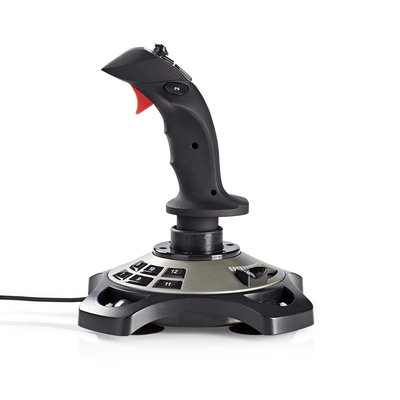 Gaming-joystick   Haptische feedback   Gevoed over USB   Werkt met USB-apparaten