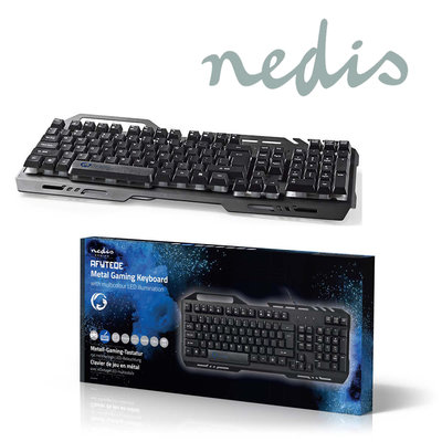 Gaming-toetsenbord | RGB-verlichting | USB 2.0 | US International | Metalen design