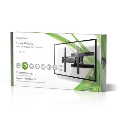 Super platte Full-Motion TV-muurbeugel | 32 - 55