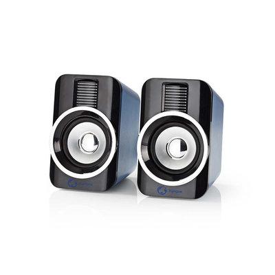 Gaming-luidsprekers | 2.0 | RGB | Over USB gevoed | 3,5 mm jack | RMS 10W