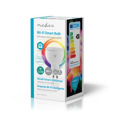 Wi-Fi smart LED-lamp | Full-Colour en Warm-Wit | GU10