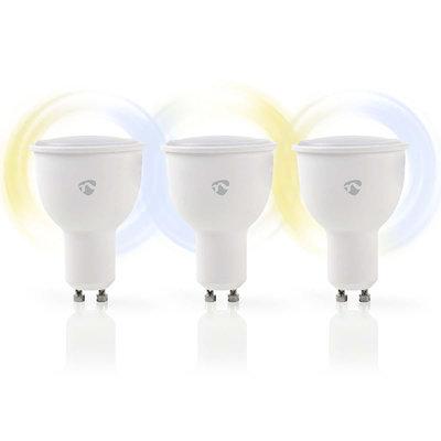 Wi-Fi smart LED-lampen | Warm- tot Koud-Wit | GU10 | 3-Pack