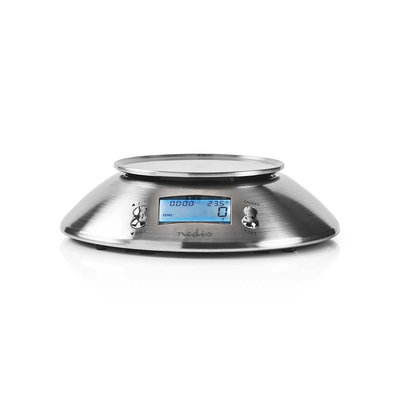Digitale Keukenweegschaal | Verlicht LCD-Scherm | Temperatuur | Wekker | Metaal