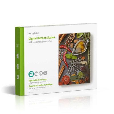 Digitale Keukenweegschaal | LCD | Glas | Design-Opdruk