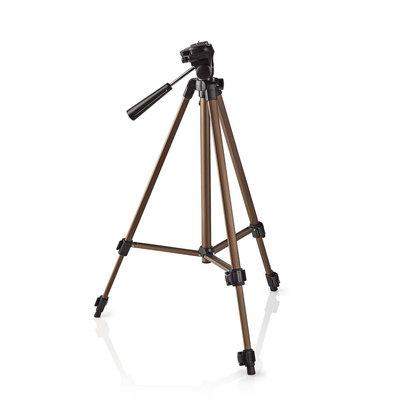 Driepoot statief| Pannen en kantelen | Max. 2 kg | 127 cm | Brons