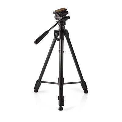 Degelijk driepoot statief | Pannen en kantelen | Max. 3 kg | 160 cm | Zwart