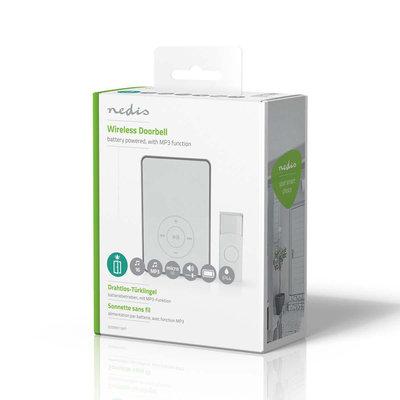 Draadloze Deurbelset | Werkt op Batterijen | MP3-Functie
