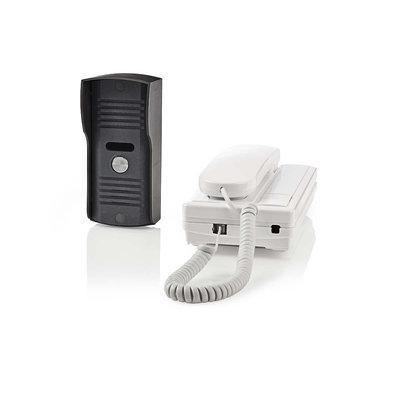 Bedrade Deur-Intercom | Ontgrendelfunctie | Weerbestendig (IP44) buitentoestel | Werkt tot 100 m