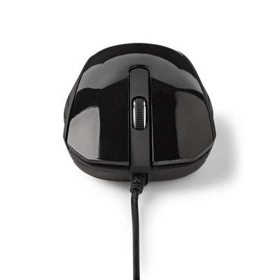 Bedrade optische Muis | 1000 dpi | 3-knops - Wit of zwart