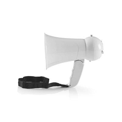 Megafoon | 15 W | Bereik van 100 m | Ingebouwde Microfoon | Wit
