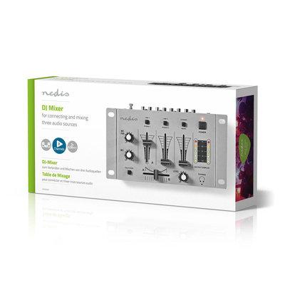 DJ-Mixer | 3 Stereokanalen | Crossfader | Talkover-Functie