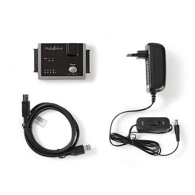 Hardeschijfadapter   USB 3.0   Dual Sata   2,5
