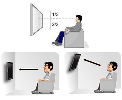 TV Muurbeugel Draai- en Kantelbaar voor tv's van 10