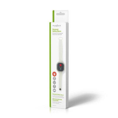 Persoonlijk veiligheidsalarm | Waterdicht | Ontwerp met polsbandje | ≥ 85dB-alarm | Knipperende led