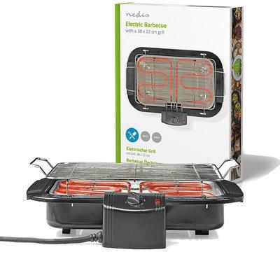 Elektrische Barbecue   Rechthoekig   38 x 22 cm   2000 W