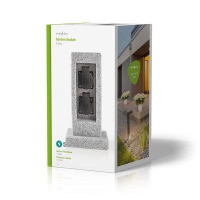 Stekkerdoos   2x Stopcontact   Beton-look