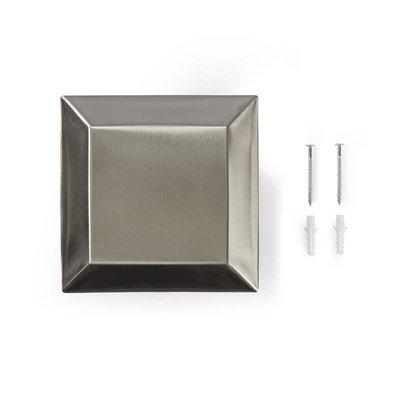 Tuinzuil - Stekkerdoos   4x Stopcontact   Aluminium
