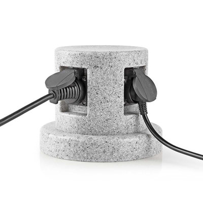 Tuinzuil - Stekkerdoos   4x Stopcontact   2,00 m - Beton-look