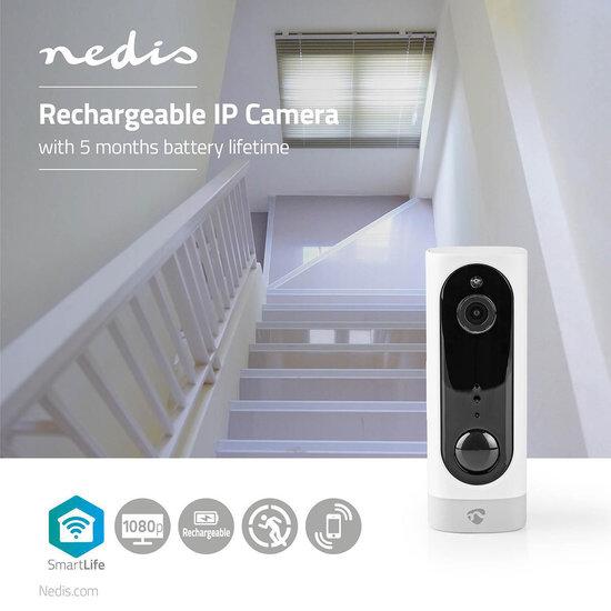 Oplaadbare IP-Camera   PIR Bewegingssensor   MicroSD   3000 mAh