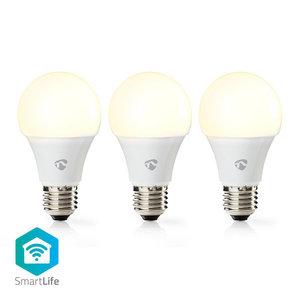 Wi-Fi Smart LED-Lamp | Warm Wit | E27 | 3-Pack