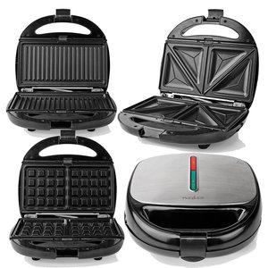 Multi-Grill | Tosti / Wafel / Grill | 800 Watt | Zwart