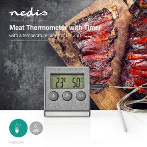 Vleesthermometer | 0 - 250 °C | Digitaal Display | Timer