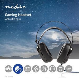 Headset | Over-ear | Ultra-Bass | LED-verlichting | 3,5-mm & USB-connectoren