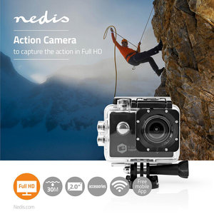 Action Cam - Full HD 1080p - Wi-Fi - Waterdichte Behuizing
