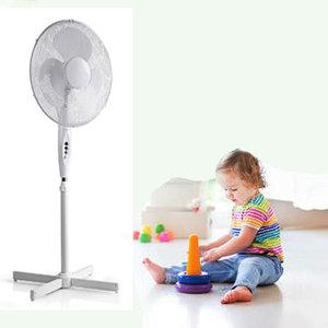 Staande ventilator - Minimaal geluid - Instelbare hoogte - Diameter 40 cm - 3 snelheden - Oscillatiefunctie - Wit