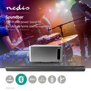 Soundbar - 390 W - 2.1 - Bluetooth® - Subwoofer - Afstandsbediening - Muurbeugel