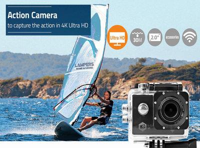 Action Cam - Ultra HD 4K - Wi-Fi - Waterdichte behuizing