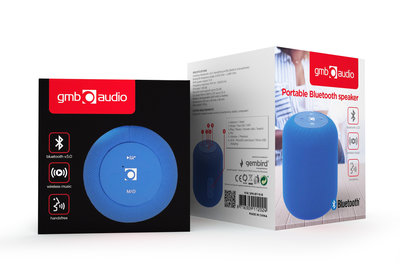 GMB Bluetooth speaker met super Bass geluid - Blauw