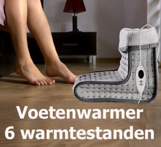 Voetenwarmer - 6 warmtestanden - Wasbaar - Digitale Besturing - Beveiliging tegen Oververhitting