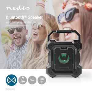 Bluetooth®-Speaker Batterij speelduur: Tot 13 Uur - Tafelmodel - 5 W - Mono - Ingebouwde microfoon - Zwart