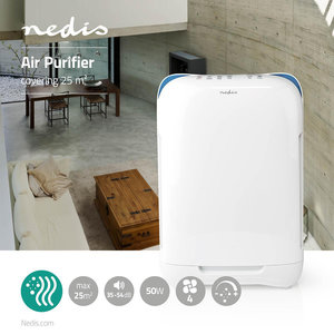 Superschone lucht in je leef- of werkomgeving met deze luchtreiniger - Met Indicator Luchtkwaliteit