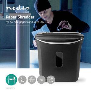 A4 Papierversnipperaar Capaciteit 12 Liter - Beveiliging DIN-P4