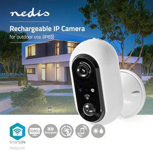 SmartLife Camera voor Buiten Wi-Fi | Full HD 1080p | IP65 | Maximale levensduur batterij: 4 maand(en) - Cloud / MicroSD - 5 VDC - Met bewegingssensor - Nachtzicht - Android™ & iOS