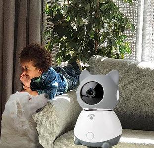 Smart WiFi Indoor IP-camera - Bewegingssensor Kantelen - Draaien en Volgen - Full HD - Klimaatsensor