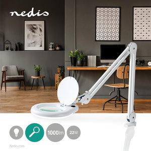 Loeplamp - Vrij beweegbaar - Ideaal voor zowel werk als hobby - 22 W - 6400 K - Wit